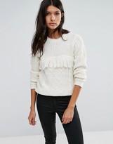 Brave Soul Tassel Front Sweater