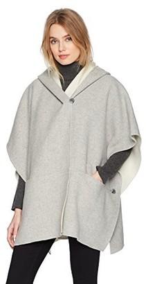 Halston Women's Double Faced Poncho Coat