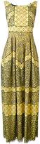 Talbot Runhof patterned maxi shift dress - women - Cotton/Polyamide/Polyester/Viscose - 34