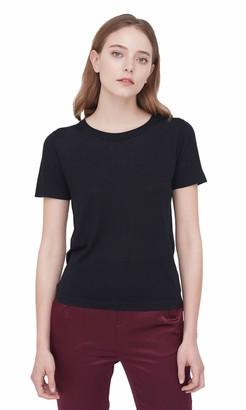LilySilk Silk T Shirt for Ladies Short Sleeves Round Neck Silk All-Matching Elegant Shirt White Size S