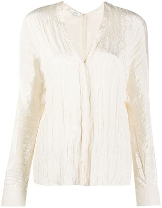 Vince Sheer Textured Blouse