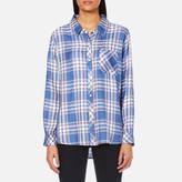 Rails Women's Hunter Check Shirt Sky/White/Daffodil