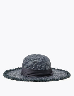 Marks and Spencer Straw Floppy Fedora Hat