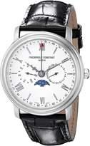 Frederique Constant Men's FC270SW4P6 Business Time Analog Display Swiss Quartz Black Watch