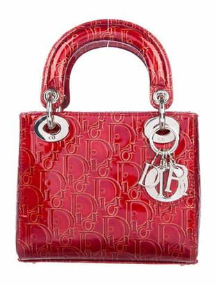 Christian Dior Vintage Mini Lady Bag w/ Strap Red