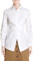 Yigal Azrouel Embroidered Cotton Blouse
