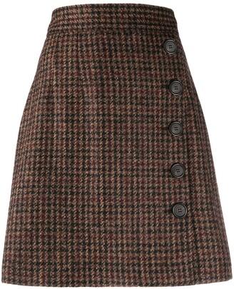 Dolce & Gabbana tweed A-line skirt