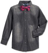 Tommy Hilfiger Preston Denim Shirt & Bow Tie, Little Boys (2-7)
