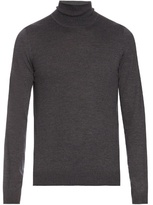 Maison Margiela Roll-neck long-sleeved wool sweater