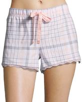 U.S. Polo Assn. White & Gray Plaid Lounge Shorts