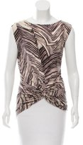 Halston Abstract Print Sleeveless Top