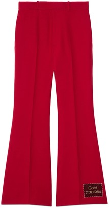 Gucci Wool silk flare pant with Eterotopia