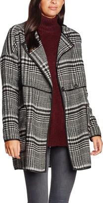 Vero Moda Women's Tiffany Plaid Coat with Trim Detail