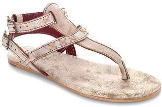 Bed Stu Leather Double Strap Thong Sandals - Moon