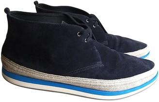 Prada Navy Suede Boots