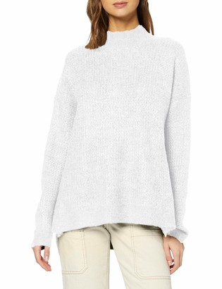 New Look Women's Op Stitchy Stand Neck Jumper Sweater