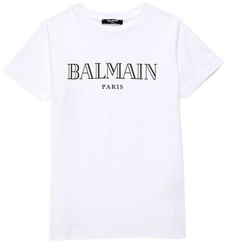 Balmain Little Kid's & Kid's Logo Cotton T-Shirt