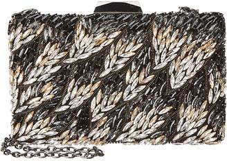 Sondra Roberts Crystal Embellished Box Clutch