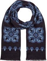 Barneys New York MEN'S FLORAL-PRINT SCARF