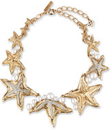 Oscar de la Renta Pave Sea Star Necklace, Golden