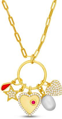 Lesa Michele Cluster Pendant Necklace