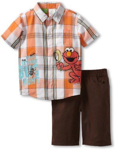 Sesame Street Boys 2-7 2 Piece Elmo G...