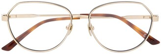 Calvin Klein Aviator-Style Metal Glasses