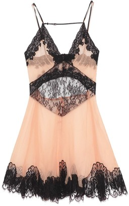 Gucci Lace-Trim Slip Dress