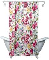 India Ink Zenna Home Watercolor Floral Fabric Shower Curtain