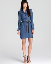 Burberry Brit Chambray Belted Shirt Dress