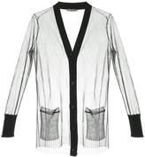 Alexander McQueen sheer oversized cardigan