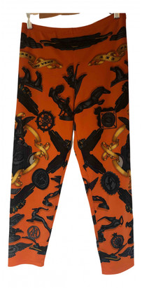 Hermes Orange Synthetic Trousers