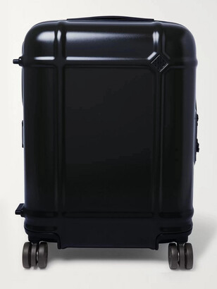 FPM Milano Globe Spinner 55cm Leather-Trimmed Polycarbonate Carry-On Suitcase - Men - Blue