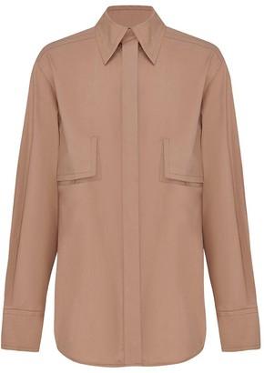 Esse Studios Button-Front Cotton Long Sleeve Shirt