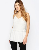 B.young Peplum Ruffle Top