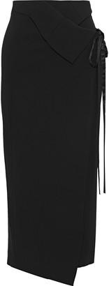 Ann Demeulemeester Crepe Midi Wrap Skirt