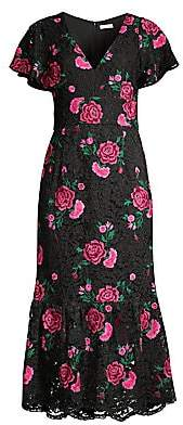 Shoshanna Women's Audette Floral Lace Dress