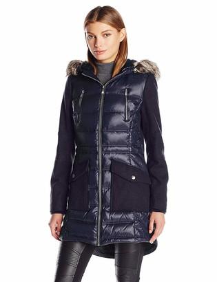 BCBGeneration Women's Puffer Wool Anorak Coat
