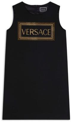 Versace Diamante Logo Dress