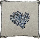 Saved NY Blue Coral Cashmere Pillow