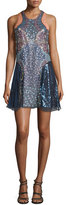 Mary Katrantzou Juno Sequined Chiffon Slip Dress