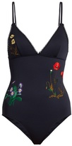Stella McCartney Botanical-embroidered swimsuit