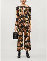 Pleats Please Issey Miyake Geometric-patterned pleated woven mini dress