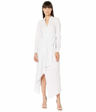 BCBGMAXAZRIA Women's Stripe WRAP Dress