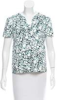 Carolina Herrera Floral Printed Neoprene Top