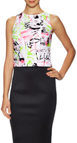 Milly Surrealist Fil Coupe Sleeveless Top