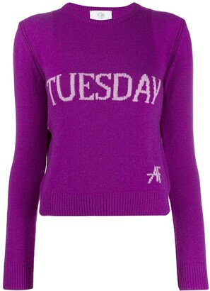 Alberta Ferretti Tuesday intarsia jumper
