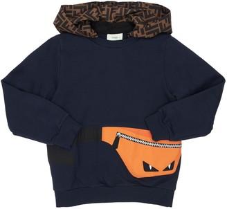 Fendi Printed Cotton Sweatshirt Hoodie