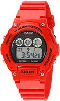 "Casio Unisex W-214HC-4AVCF ""Classic"" Resin Watch"