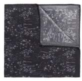 HUGO BOSS Patterned Italian Silk Pocket Square One Size Black